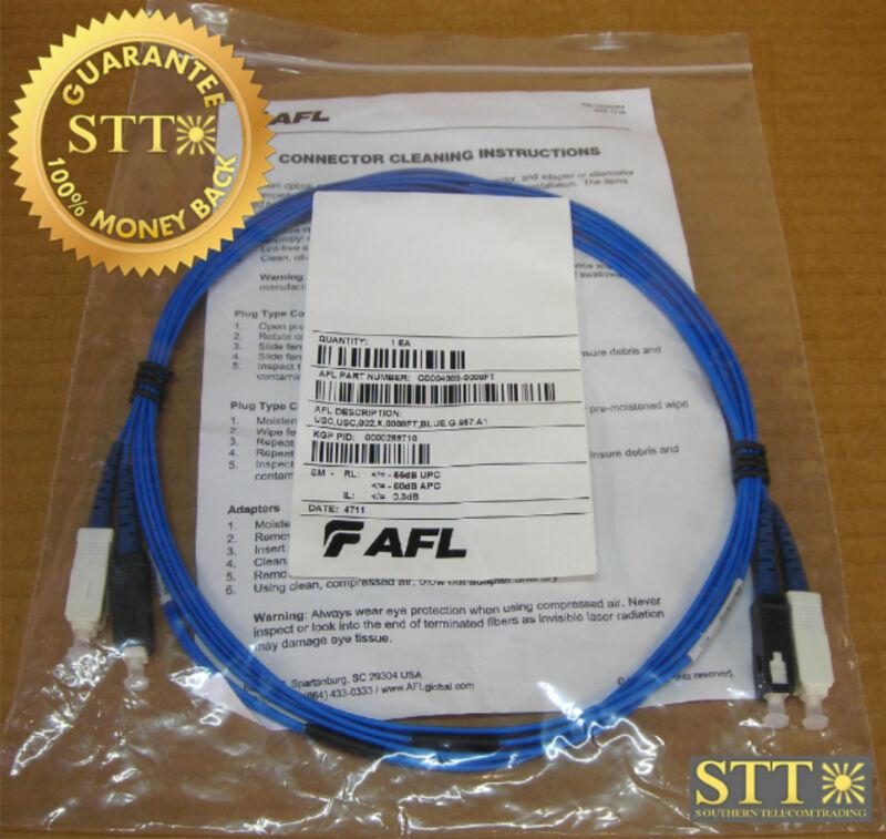 Afl Dual Fiber Cable With Dual Sc/sc Ends Sm 8 Ft New