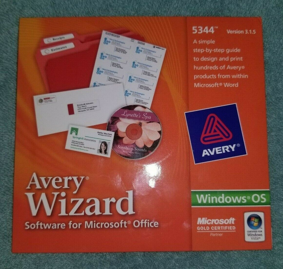 Avery Wizard Software for Microsoft Office- 5344 - Sealed