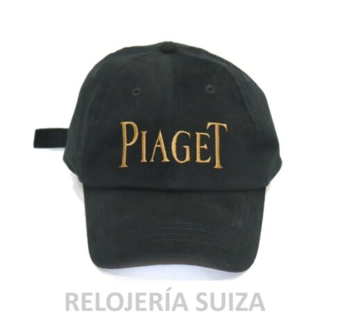 PIAGET Hat, Baseball Cap Rare Black and Gold Embroided Authentic