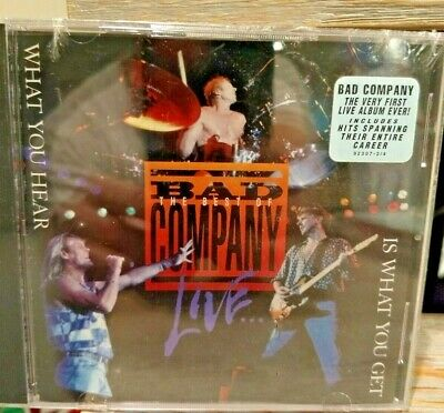 Bad Company The Best Of Live What You Hear Is What You Get CD New