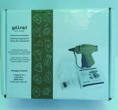 Gillraj 9s Standard Clothes Price Tagging Gun With 2000 2 Barbs And 6 Needles