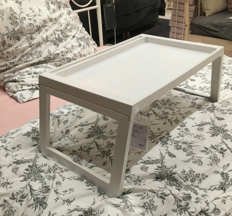Ikea KLIPSK Tablett,Weiß Klapptablett Betttablett Frühstück im Bett 002.588.82