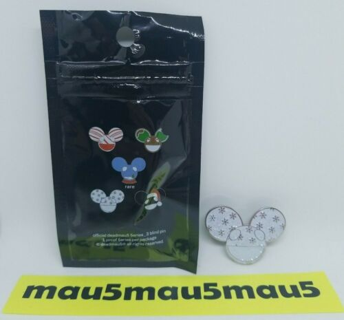 Deadmau5 Series 3 Enamel Pin Numbered to 300 Snowflake Glitter Snow Mau5 #272