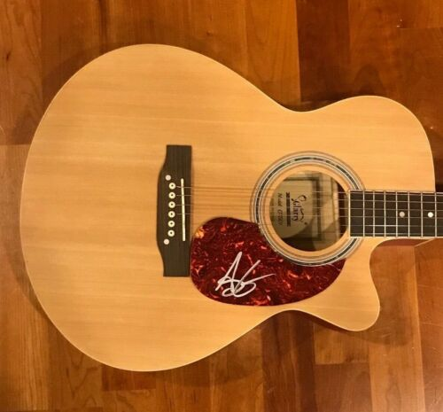 * ANDY GRAMMER * signed acoustic guitar * HONEY, IM GOOD * 2