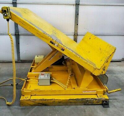 Vestil Uni-4848-2 Tilt Lift Table 2000 Lb Capacity 40 Tilt 6-1