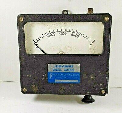 Vintage Levelometer Gauge Bellows Falls Vt Steam Punk Simmonds Precision.