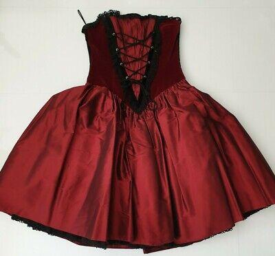 Kleid Cocktailkleid Corsage Gr.36 Abi Taft Samt Spitze Petticoat bordeaux online kaufen