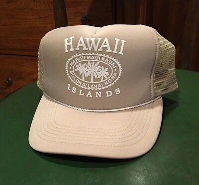 09f819ddb7cef HAWAII TRUCKER STYLE HAT SNAP BACK HAWAIIAN HEADWEAR