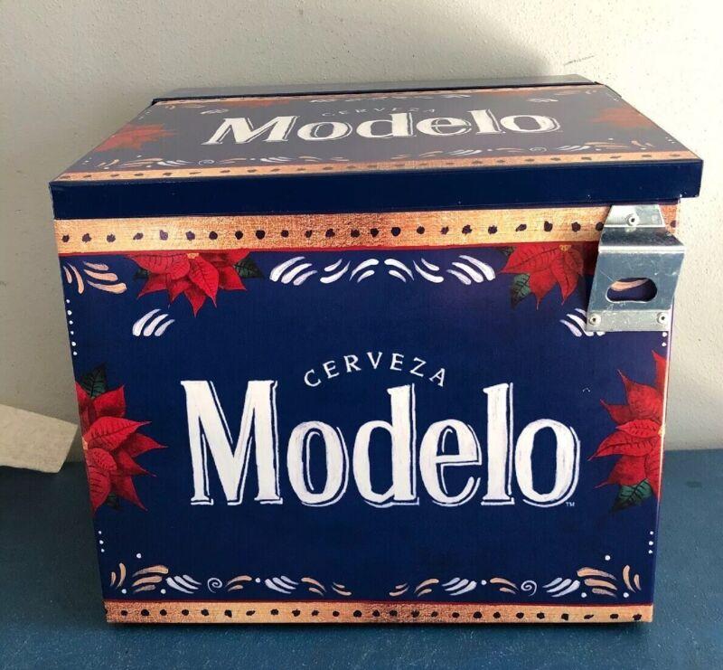 (L@@K) Modelo Beer Metal Indoor Outdoor Patio Bottle Can Cooler Game Room NEW