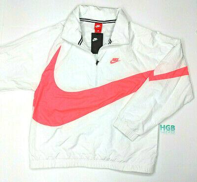 Nike Sportswear Anorak Windbreaker Jacket Mens White Hood Training AJ1404-122