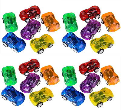 Cars Party Favor Boxes (LOT OF 24 MINI PULL BACK CARS 2.25