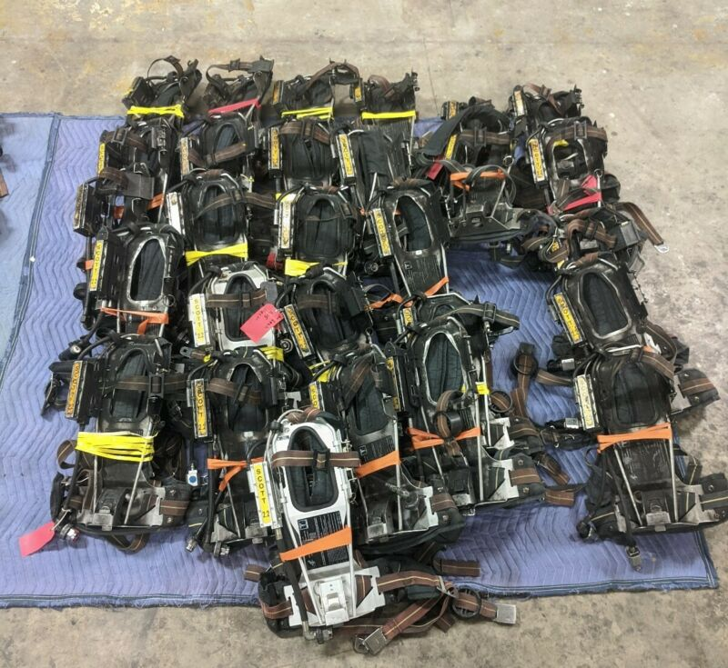 *LOT OF 28* Scott 2.2 Back Pack Fireman Fresh Air Rescue Harness