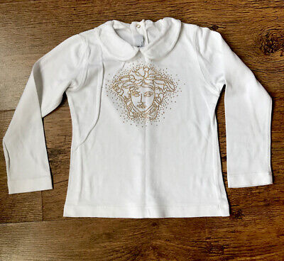 Young Versace Girls White Medusa Top Until 3 Years