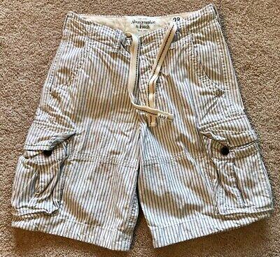 Abercrombie & Fitch Men's Cargo Shorts-Navy Pinstripe