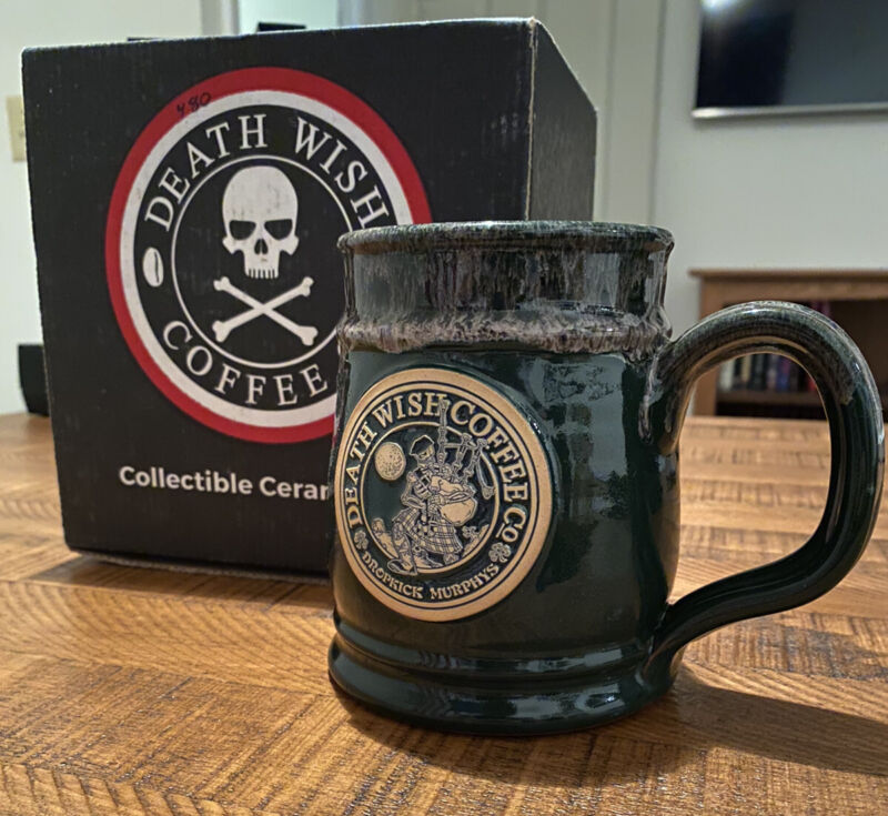 Death Wish Coffee Company St. Paddy's Day Collectible Mug (Low #)