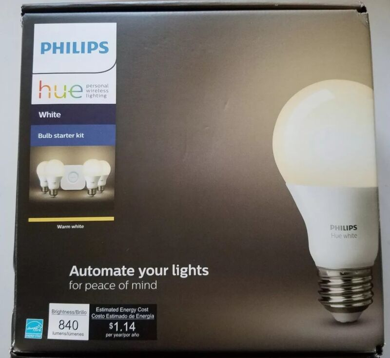Philips Hue White A19 LED Starter Kit 472001