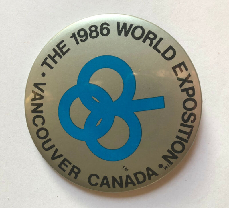 Vintage Expo 86 Worlds Exposition Vancouver Canada Button