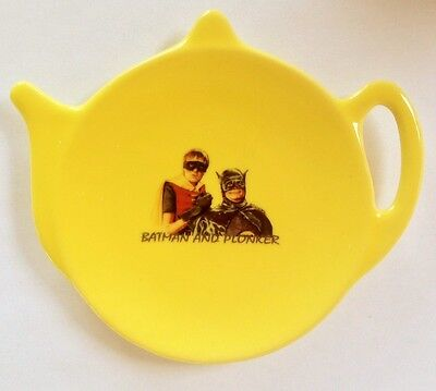 ONLY FOOLS Del Boy and Rodney YELLOW CERAMIC TEA BAG TEABAG TIDY HOLDER horses