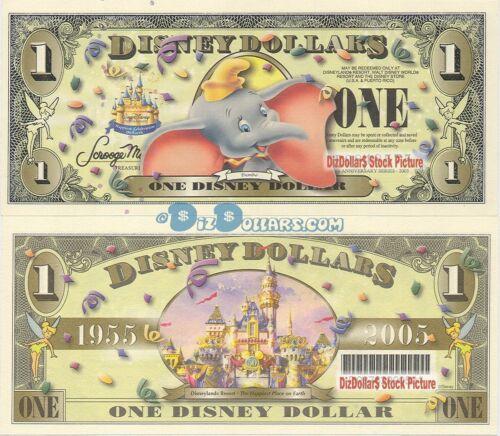 WDW 2005 D $1 Barcode MINT UNCIRCULATED DUMBO Disney World Dollar Dollars