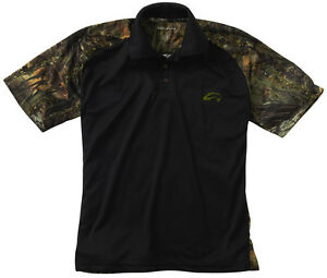 Fishouflage performance 100 polyester bass fishing camo for Polo shirt with fish logo