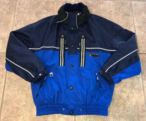 Купить Bogner - Bogner Active Mens Blue/Navy Blue Full Zip Snow Winter Jacket Size 40
