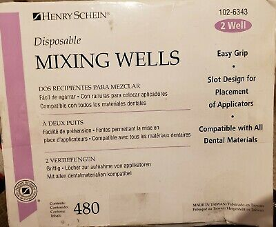 Henry Schein Disposable Mixing Wells