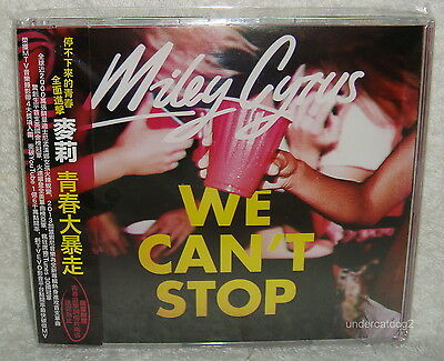 Miley Cyrus We Can T Stop 2013 Taiwan Cd  2 Postcards W Obi