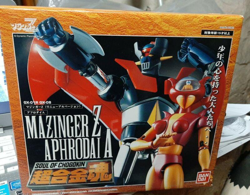 BANDAI Soul Of Chogokin GX-01R Mazinger Z & GX-08 Aphrodai A Giftset Limited