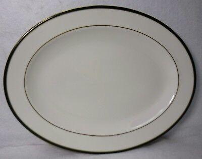 ROYAL DOULTON china OXFORD GREEN TC1191 England Oval Serving Platter - 13-3/8