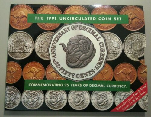 1991 Royal Australian Mint Australian uncirculated coin set