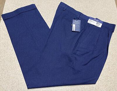 Ralph Lauren Comfort Flex Pleated Front Slacks Pants Blue- Men's Size 36x30