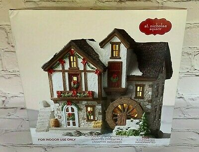 "St Nicholas Square Village Collection "" Village Mill "" Illuminated/Motion NIB*"