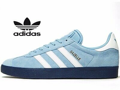 🔥 Genuine Adidas Originals Gazelle Leather ® ( Men UK Size 11 EUR 46 ) Ash Blue