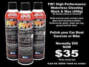 FW1 High Performance Waterless Cleaning Wash and Wax Toronto Lake Macquarie Area Preview