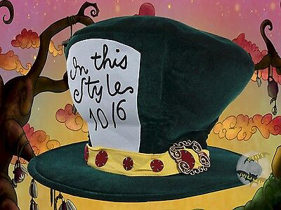New Alice in Wonderland Classic Mad Hatter Tea Party Adult Costume Top Hat Classic Mad Hatter Hat
