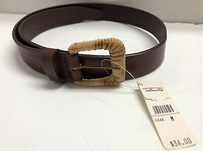 """Talbots Italian Saddle Leather Dark Brown Belt Women's M 35"""" NWT for sale  Shipping to India"""