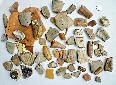 Ancient British Pottery Shards, Iron Age, Roman, Saxon, Medieval, Etc  = 3 kg