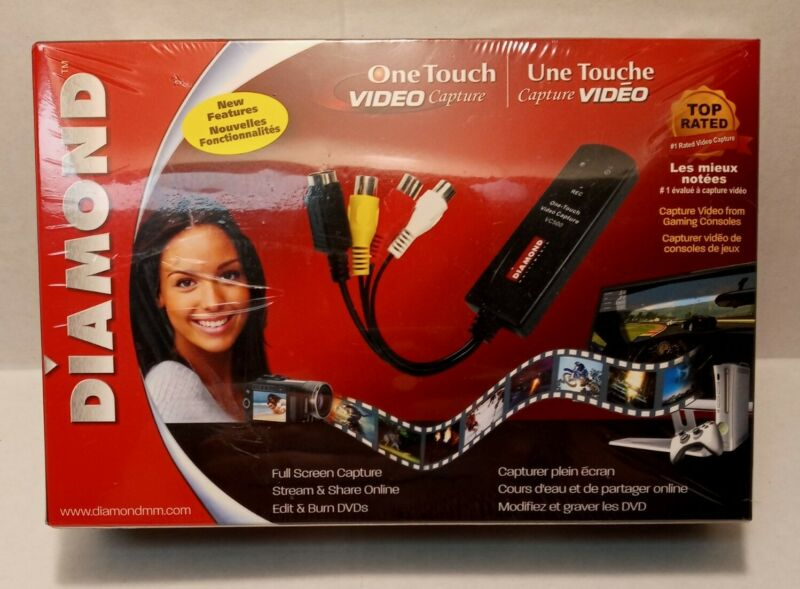 Diamond Multimedia VC500 USB 2.0 One Touch VHS to DVD Video Capture Device NIB