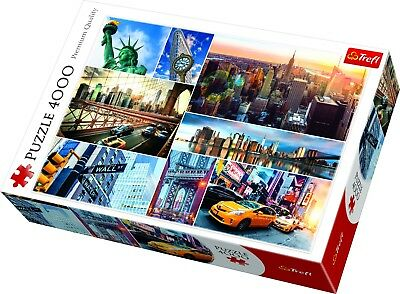 Trefl 4000 Piece Adult Large Image New York City Collage Sites Jigsaw Puzzle NEW