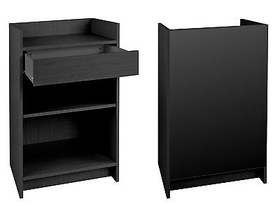 Cash Register Stand Store POS Checkout Sales Counter Ships Knockdown Black NEW
