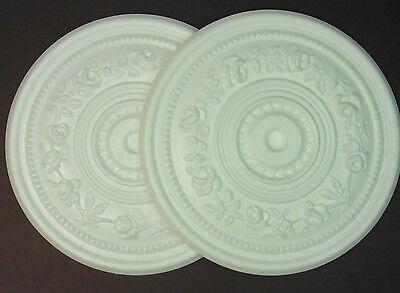 Decorators Bargain - 2 x Polystyrene Ceiling Rose 400mm ## FREE P&P Shop Soiled