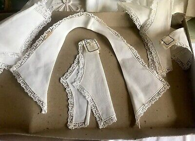 Vintage Lace Collar & Cuffs White Cotton Vintage Wedding Period Costume & Sewing