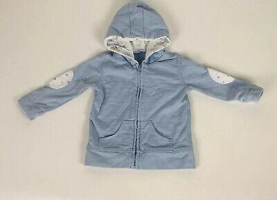 Aden Anais Boy Baby Blue Star Jacket Hoodie Sky Muslin elbow pad 6-9 Months 6 9