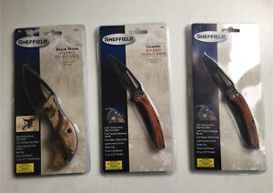 3 brand new Sheffield knives