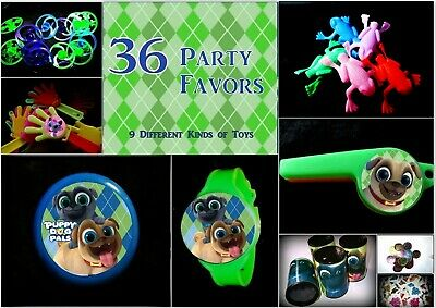 Puppy Dog Pals c2 - 36 Party Favors Combo-Toys Birthday Prizes Pack supplies (Puppy Dog Party Supplies)