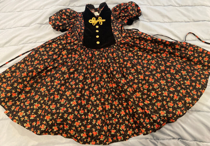 BEAUTIFUL VINTAGE GIRL DRESS SIZE 6 Full Skirt Party