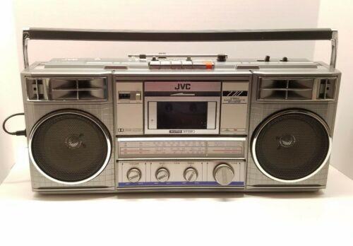 VTG JVC RC-770 JW Stereo Radio Cassette Recorder Boom Box Blaster Tested Read!