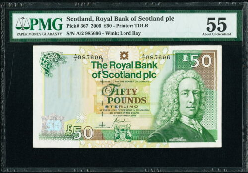 Scotland Royal Bank of Scotland PLC 50 Pounds 2005 Pick 367 PMG 55
