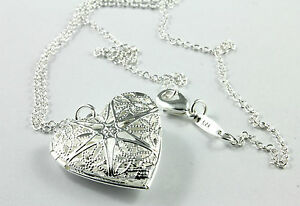 Sterling-Silver-925-Filled-Necklace-with-Heart-Locket-pendant-in-a-nice-Gift-box