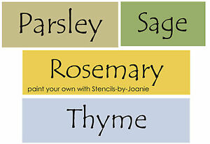 4-pc-STENCIL-Herbs-Spices-Rosemary-Thyme-Sage-Parsley-Prim-Garden-Kitchen-Signs